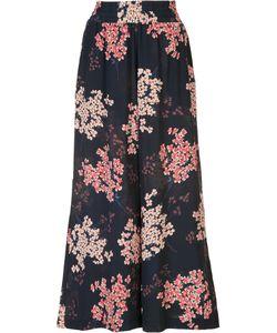 Rebecca Taylor   Print Cropped Trousers Medium Silk