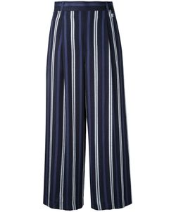 LOVELESS | Striped Cropped Trousers 36 Linen/Flax/Rayon