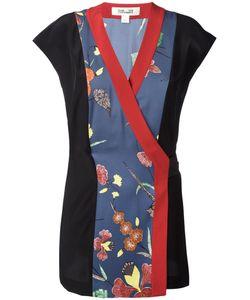 Diane Von Furstenberg | Patch Wrap Blouse Size 8