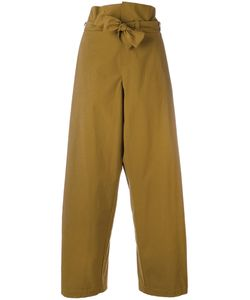 Erika Cavallini | High-Waisted Pants 40 Cotton/Spandex/Elastane