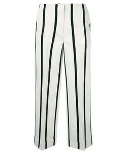 Twin-set | Striped Cropped Trousers 38 Cotton/Polyester/Viscose