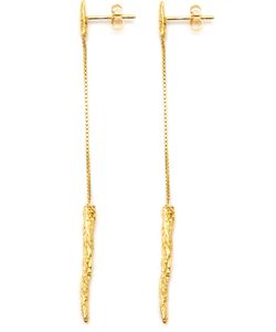 NIZA HUANG | Illusion Long Drop Earrings Women Sterling