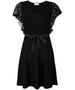 Red Valentino | Embroidered Flared Dress