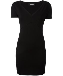 Dsquared2 | V-Neck Mini Dress Medium Viscose/Polyamide/Spandex/Elastane