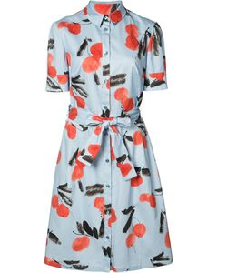Carolina Herrera | Cherry Print Shirt Dress