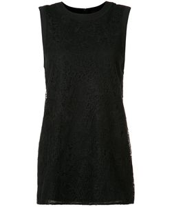 Vera Wang | Lace Panel Tank Top Xs Cotton/Silk/Nylon