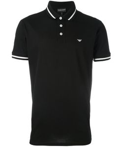 Emporio Armani   Striped Trim Polo Shirt Xxxl Cotton