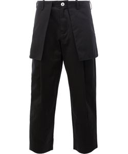 AGANOVICH | External Pockets Cropped Trousers 48 Cotton