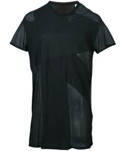 JULIUS | Sheer Panel T-Shirt 1 Cotton