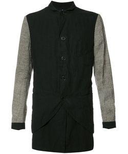 ZIGGY CHEN | Contrasting Sleeve Shirt Jacket 44 Linen/Flax