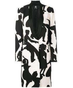 Paul Smith Black Label | Dancer Print Coat 40 Cotton/Viscose/Acetate/Viscose