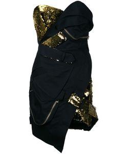 Alexandre Vauthier | Короткое Платье-Бюстье С Пайетками