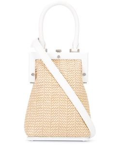 PERRIN PARIS | Woven Crossbody Bag Straw/Leather