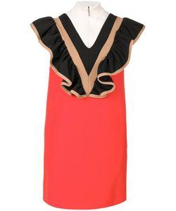 MSGM | Платье С Высоким Воротом И Оборками