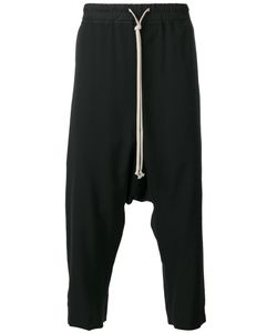 Rick Owens | Cropped Drop-Crotch Joggers 46 Viscose/Virgin Wool/Cotton