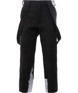 AGANOVICH | Draped Pockets Cropped Trousers 46 Cotton/Polyamide/Polyester/Polycarbonite