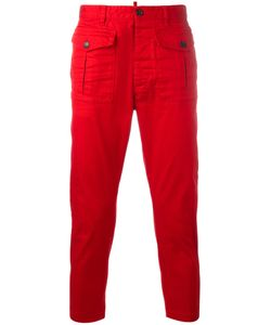 Dsquared2 | Cropped Cargo Trousers 48 Cotton/Spandex/Elastane