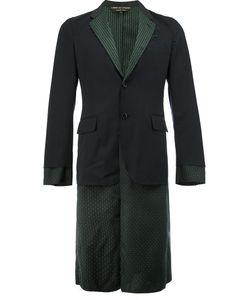COMME DES GARCONS HOMME PLUS | Comme Des Garçons Homme Plus Layered-Effect Patterned Blazer Size Small