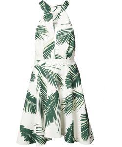 C/MEO | Leaf Print Mini-Dress Large Polyester