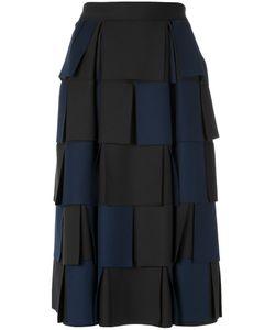 GLORIA COELHO | Panelled Neoprene Skirt Womens Size 40 Polyester/Elastodiene
