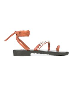 Giuseppe Zanotti Design | Caitlin Sandals Size 37 Leather/Rubber/Metal Other