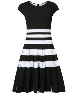 Carolina Herrera | Pleated Stripe Knit Dress Xs