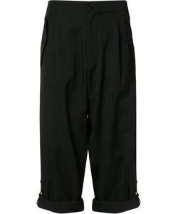 Yohji Yamamoto | Folded Hem Cropped Trousers Size 1