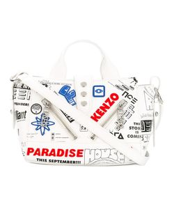 Kenzo | Kalifornia Flyers Print Shoulder Bag Nylon/Cotton/Leather