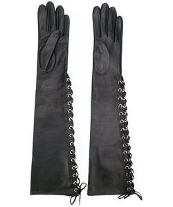 Manokhi | Long Lace-Up Gloves