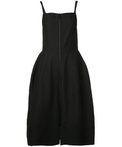 Vera Wang | Square Neck Bell Dress 4 Cotton/Nylon/Wool