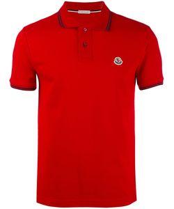 Moncler | Рубашка-Поло С Отделкой В Полоску
