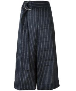 Victoria, Victoria Beckham | Victoria Victoria Beckham Striped Cropped Trousers 38 Cotton/Linen/Flax/Elastodiene