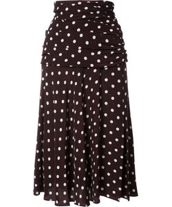 Veronica Beard | Polka Dots A-Line Skirt 0 Silk