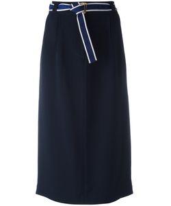 Michel Klein | Belted Midi-Skirt 38 Polyester/Spandex/Elastane