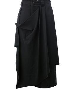 Yohji Yamamoto | Drape Effect Cropped Trousers Size
