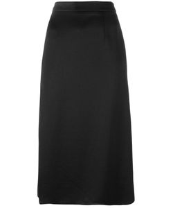 Lanvin | Side Slit Midi Skirt 36 Polyester/Viscose