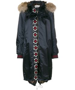 BAZAR DELUXE | Embroidered Detail Parka Coat Women Cotton/Polyamide/Spandex/Elastane/Racoon