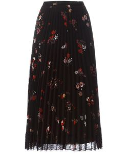 Red Valentino | Print Pleated Skirt 40 Polyester