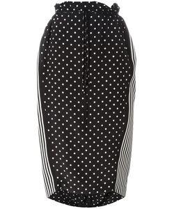 Stella Mccartney | Dual Pattern Midi Skirt 38 Silk