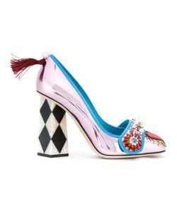 Dolce & Gabbana | Декорированные Туфли-Лодочки С Кристаллами Jackie