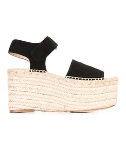 Paloma Barceló | Wedge Sandals 40 Suede/Leather/Raffia