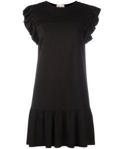 Red Valentino | Frill Drop Hem Dress Small Viscose/Polyamide/Spandex/Elastane