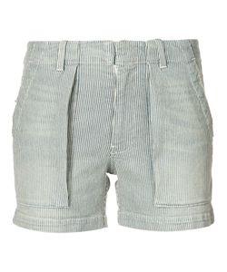 Nili Lotan | Striped Denim Shorts