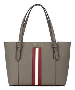 Bally | Stripe Detail Tote Leather/Nylon