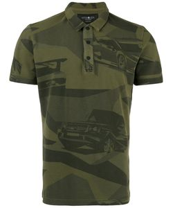 Hydrogen   Camouflage Print Polo Shirt Size Large