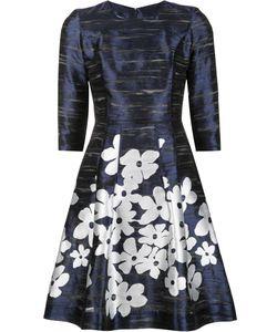 Carolina Herrera | Print Dress 10 Silk/Acetate/Polyester