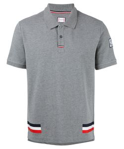Moncler Gamme Bleu | Tri-Colour Stripe Polo Shirt Medium