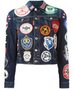 Dsquared2 | Patch Appliqué Denim Jacket 38 Spandex/Elastane/Cotton