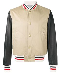 Moncler Gamme Bleu | Striped Detail Bomber Jacket 3