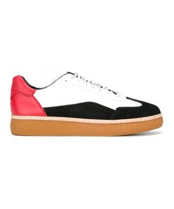 Alexander Wang | Colour-Blocked Lace-Up Trainers 40 Calf Leather/Leather/Rubber